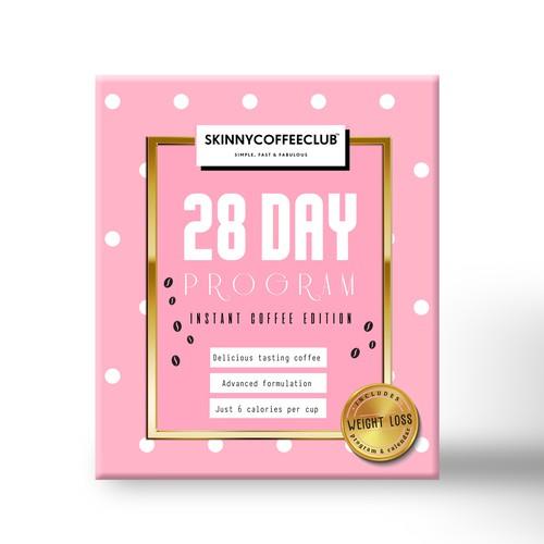Box design for 28 day detox program
