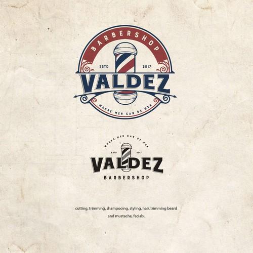 Valdez Barbershop Logo