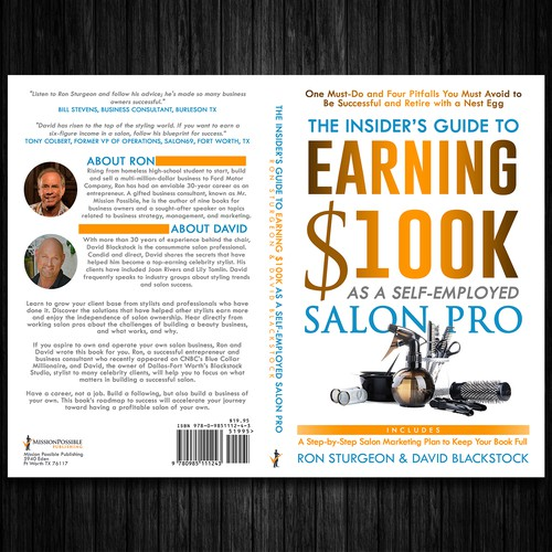 Clean and Bold Book Cover for a Salon