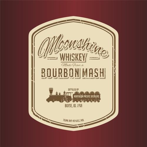 moonshine whiskey logo design