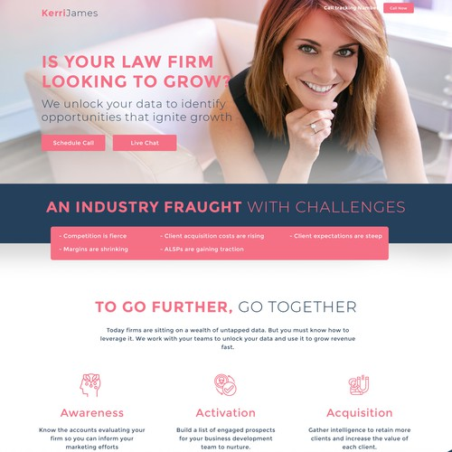 Law firm website homepage design