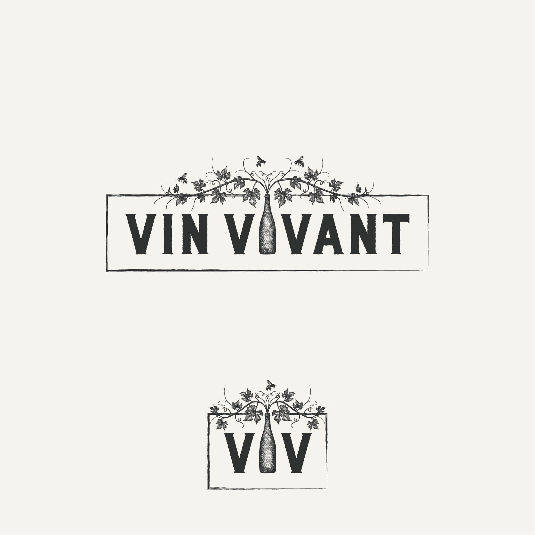 Quirky but sophisticated vintage-inspired logo for boutique French wine importers