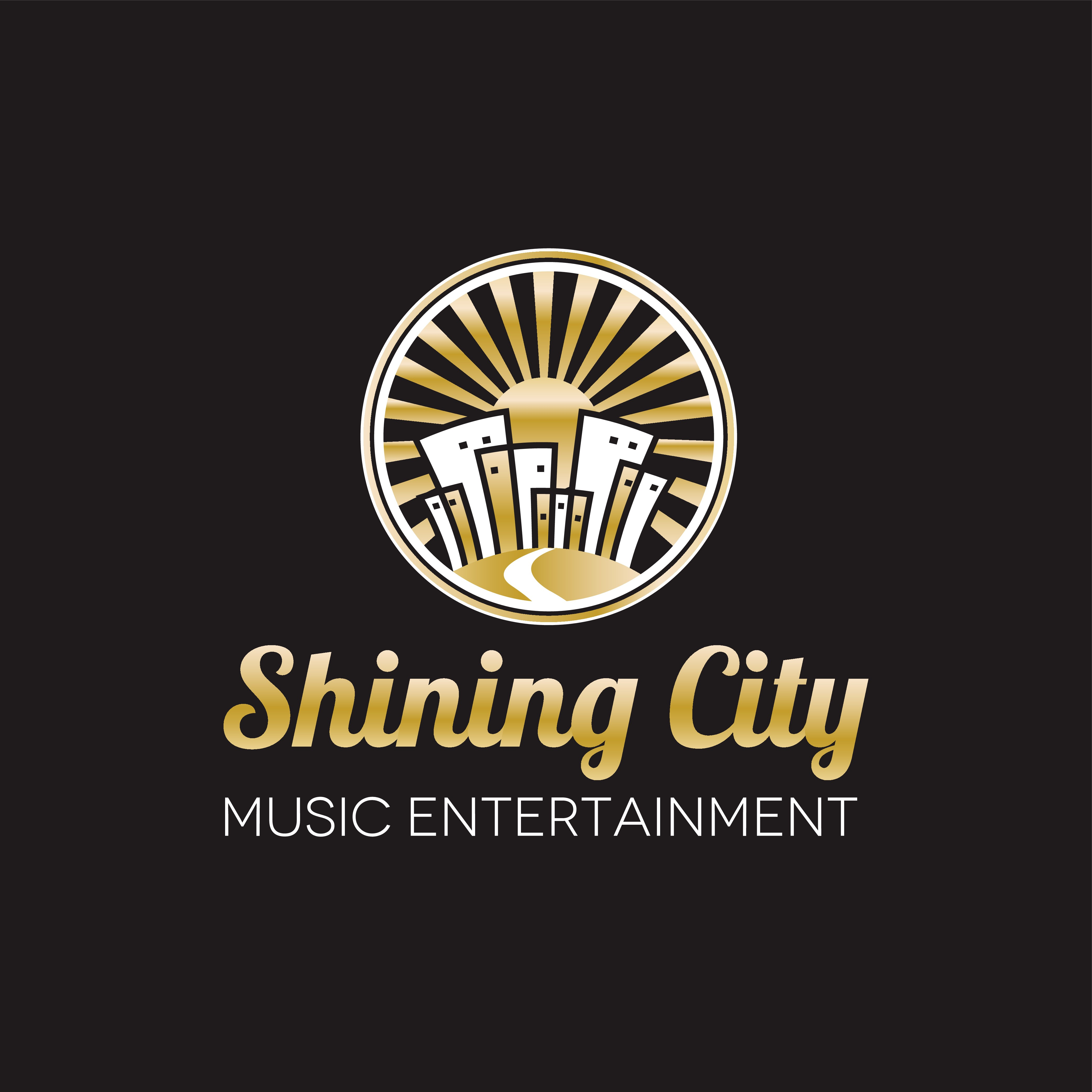 I would like a platinum record as the base with city on a hill with lights uplighting the sides.