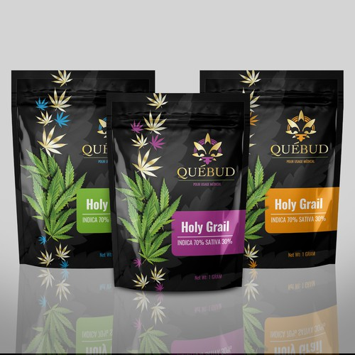 Package design for a Cannabis concentrates company.