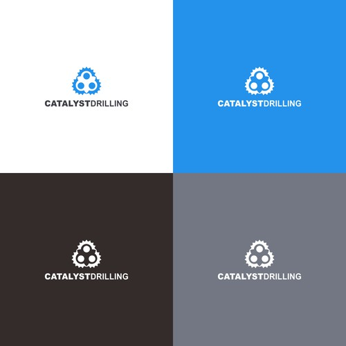 Logo concept for oil drilling