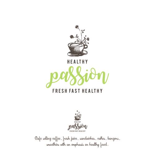 Logo concept for healthy cafe