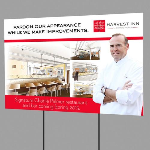 Harvest Inn Renovation Signage