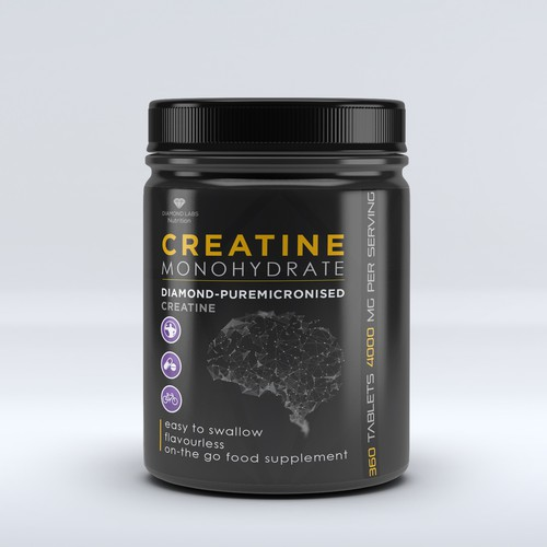 Creatine supplement product label