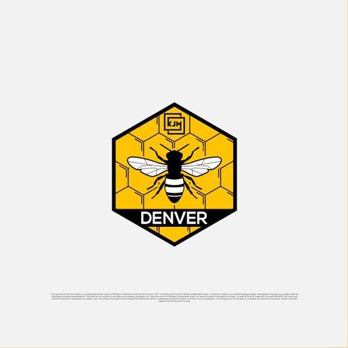 Creative logo with Hexagonal Bee Concepts