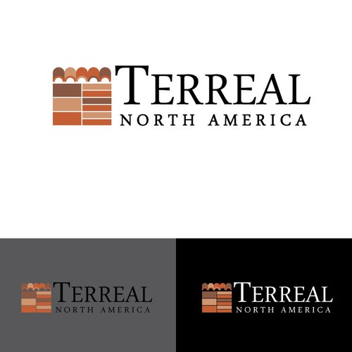 Create a captivating logo for Terreal North America and its contemporary terracotta products