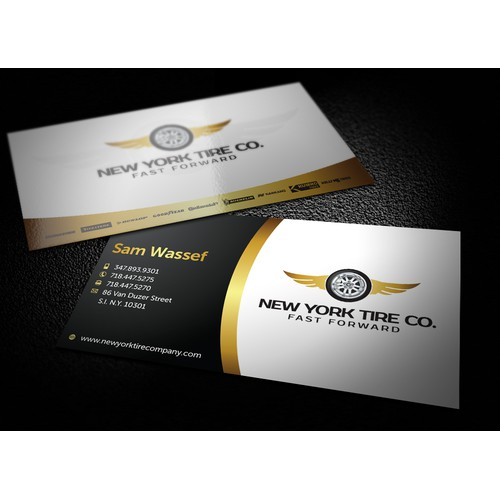 Design a new logo and business card for New York Tire Co. & Service Center .