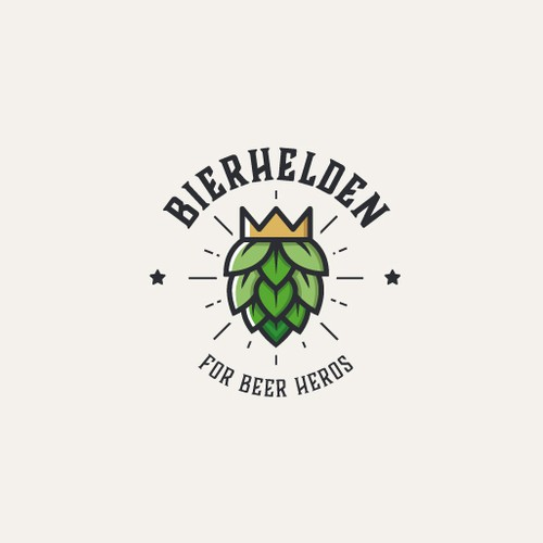 Beer hero mascot logo