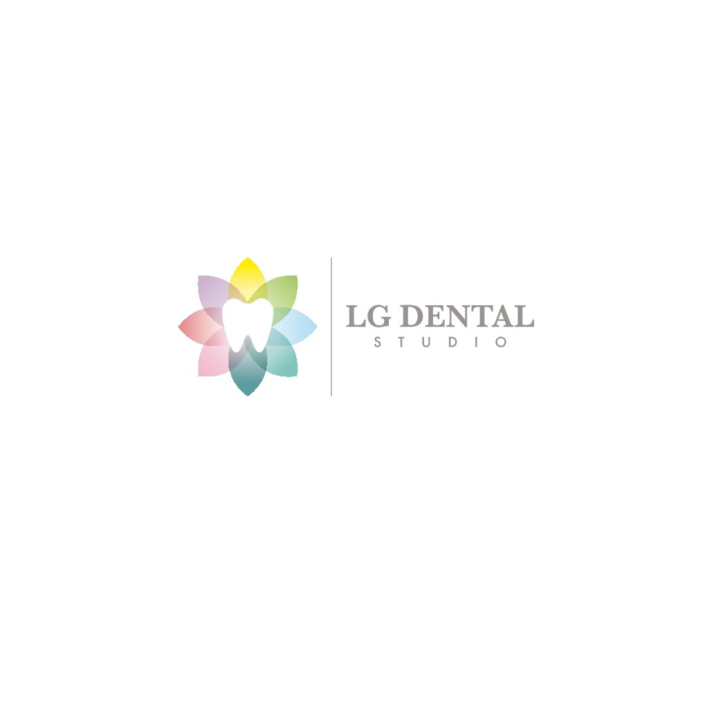 Clever use of tooth and color for elegant logo for sophisticated boutique dental studio