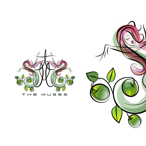 Illustrative style branding for olive oil based beauty product