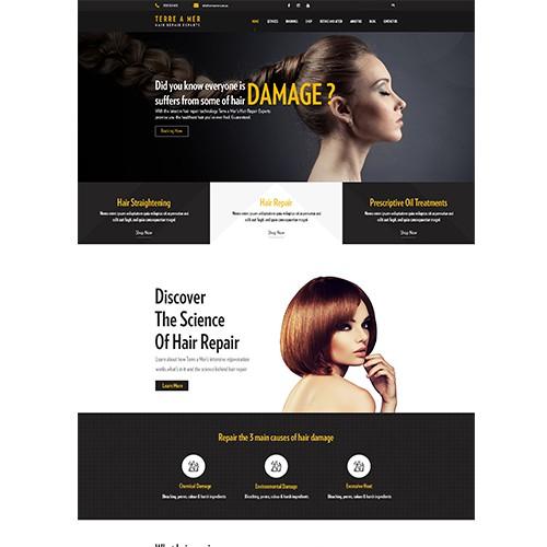 Powerful Homepage Design for Niche Salon