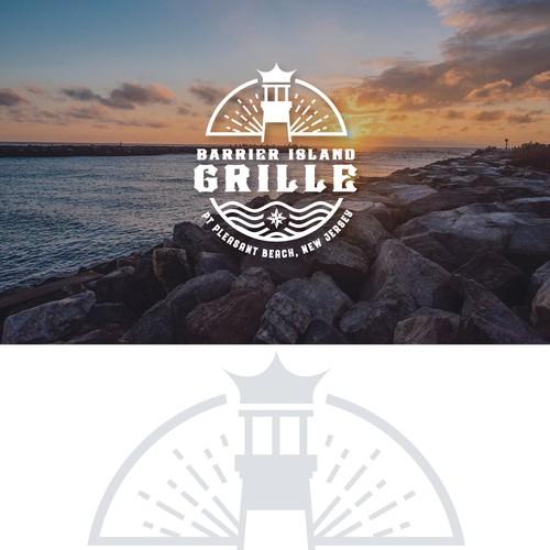 Barrier Island Grille Nautical Logo