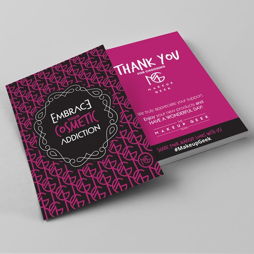 Create a deco-inspired Thank You Card for Makeup Geek