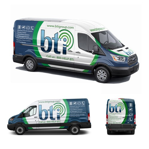 Van Wrap Design for Technology Company