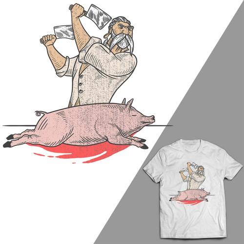 Create a design of butcher