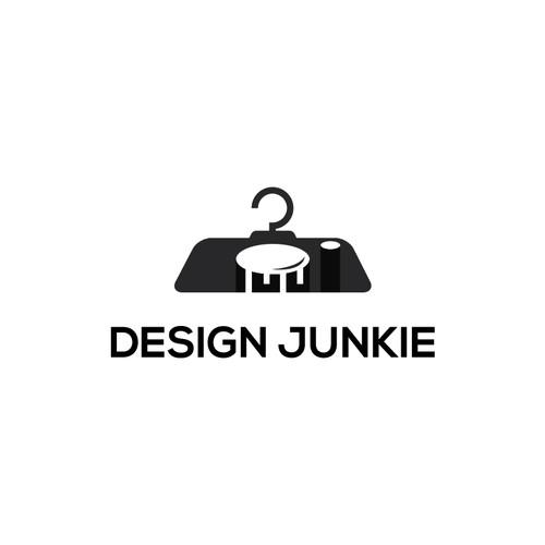 simple,clean and unique logo concept for Design Junkie