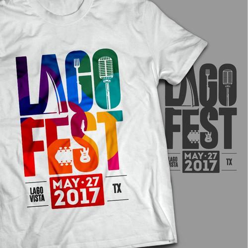 Logo for Lakeside music festival