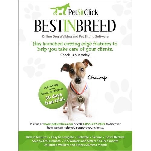 Pet Sitting Software Print Ad