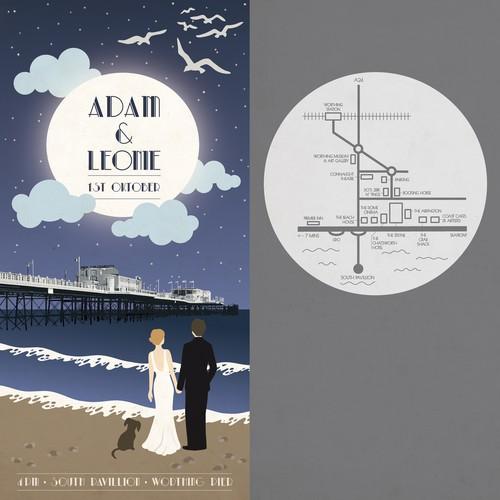 Art Deco Wedding Poster