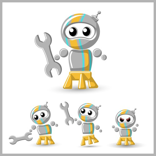 Cute Robot Character!