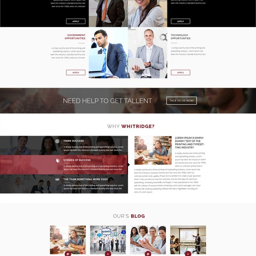 Whitridge Website (Home, Internal and Responsive)