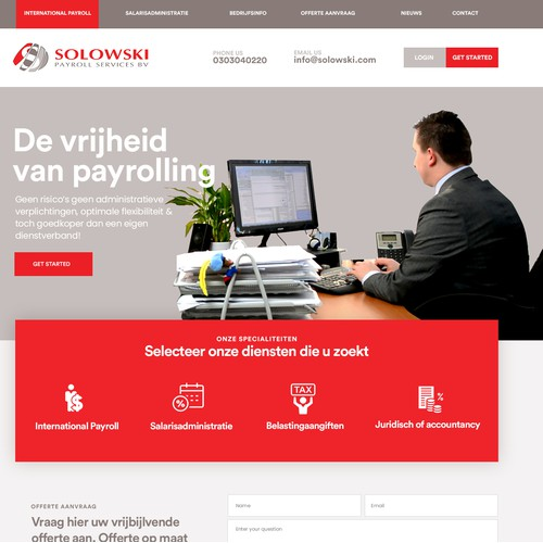 Payroll service website redesign