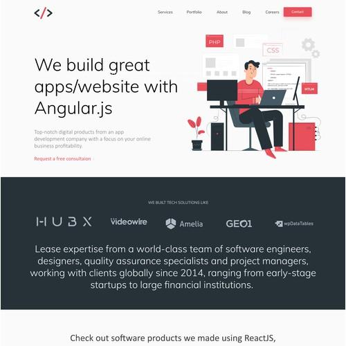 Web Design for Web development Agency