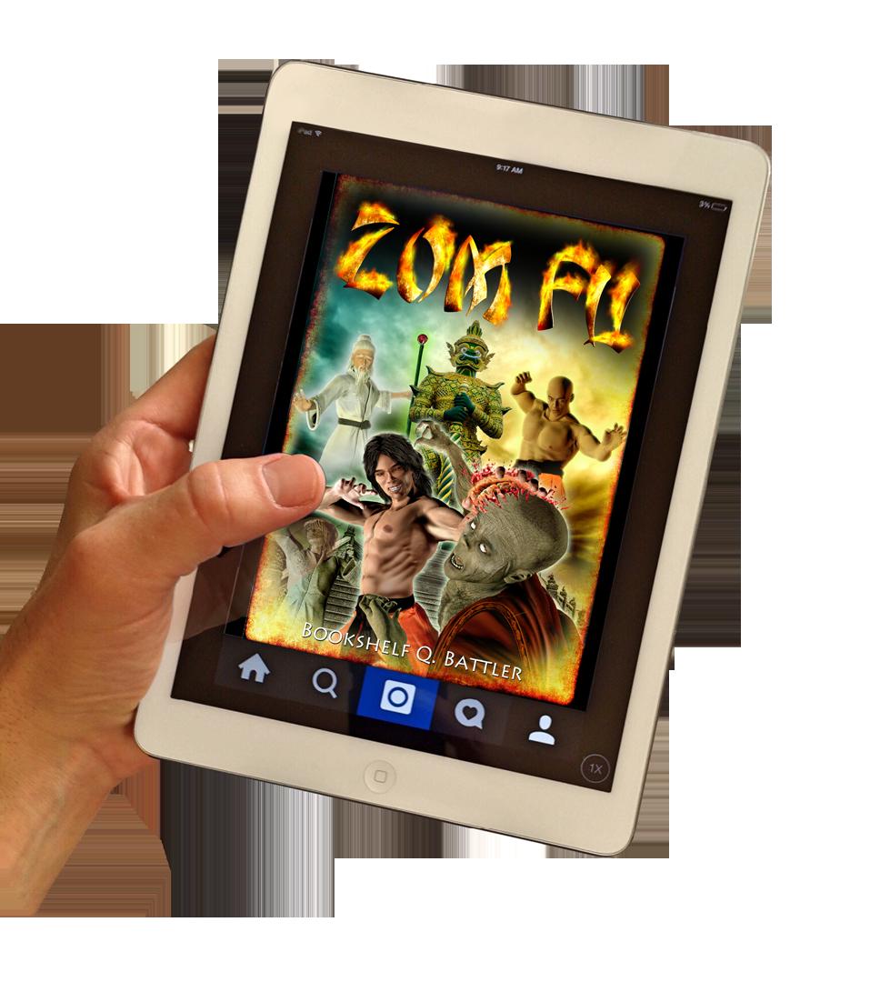 Zom Fu  (Design a Book Cover for a Kung Fu Zombie Book)