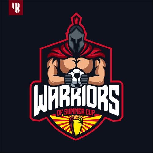 Warriors Soccer Mascot Logo