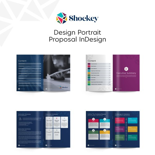 Design Template Proposal InDesign for Shockey Consulting