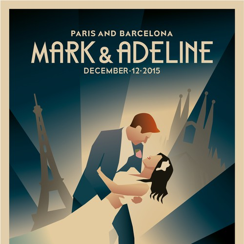 Vintage style poster as anniversary
