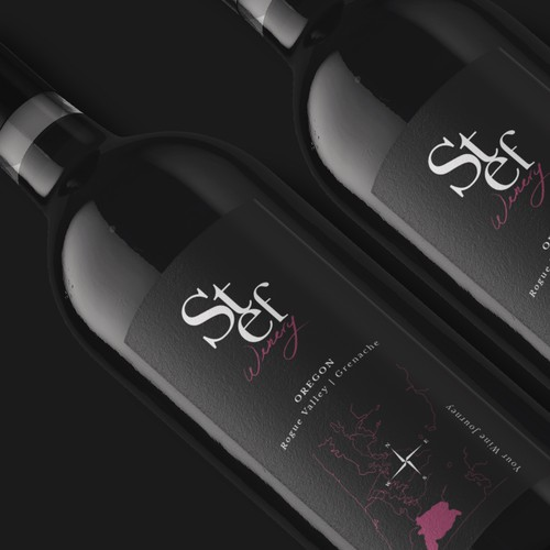 Stef Winery branding and label design