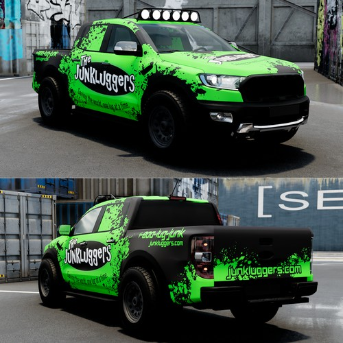 Vehicle wrap for Junkluggers Raptor