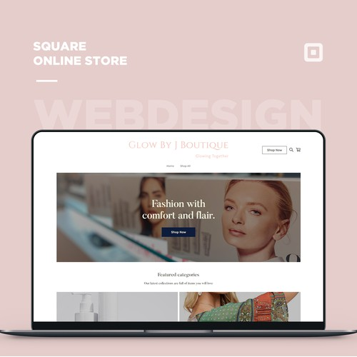 Square online store for a boutique