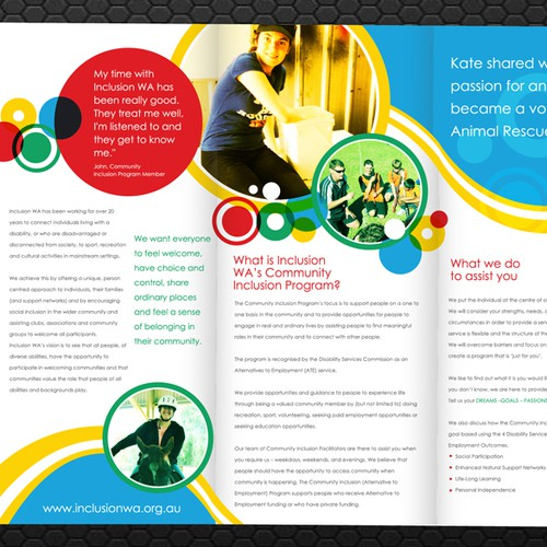 Charity needs a new brochure design for Program