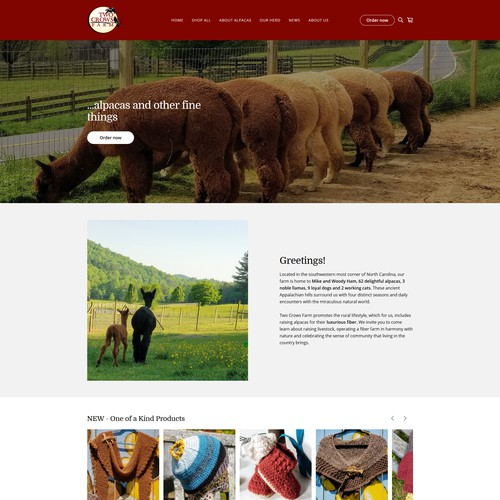 Alpaca web store