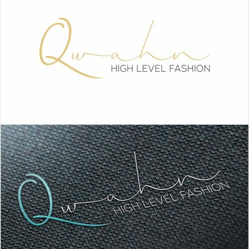 Create a logo for a QWAHN high fashion clothing brand