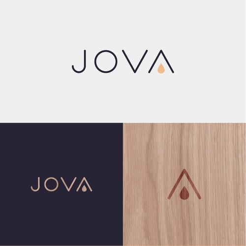 Minimal logo for Jova Cold Brew