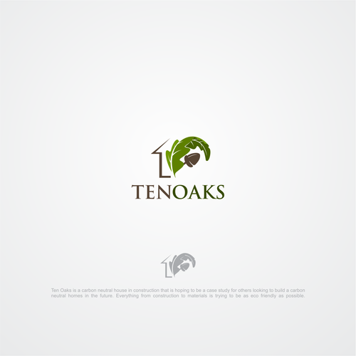 Ten Oaks - A logo for a evolutionary new house.