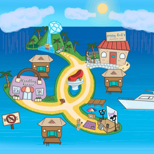 Island Map Illustration
