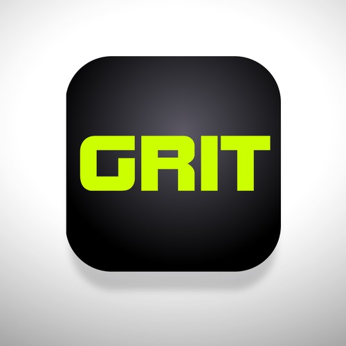 GRIT sports app icon design