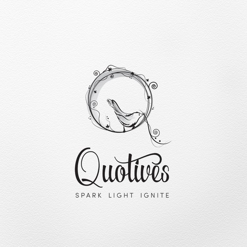 Romantic logo for candle company