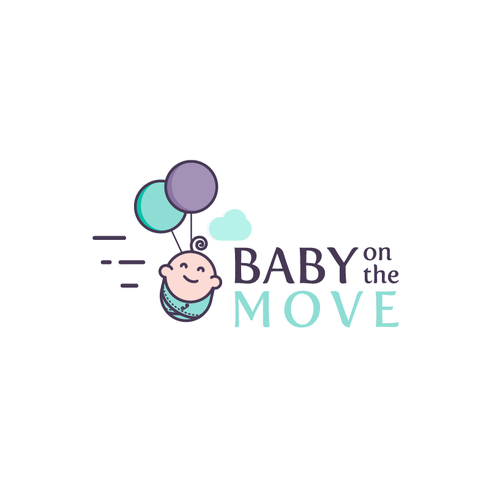 Fun and playful logo for a brand of baby products.