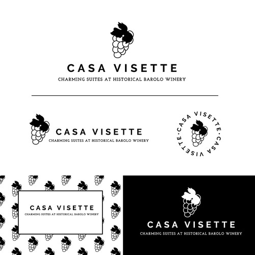 Logo concept for a boutique hotel designed in an historical Barolo winery