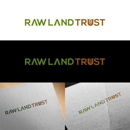 Create a sophisticated and unique logo for Raw Land Trust