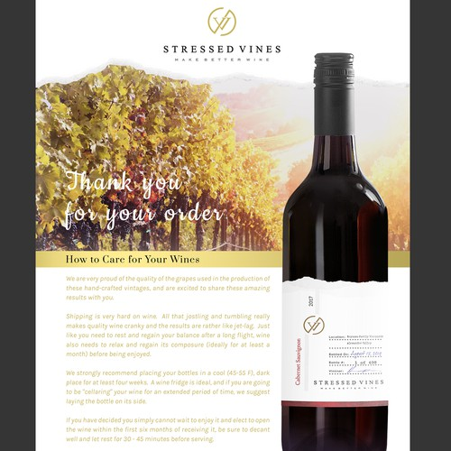 Wine Sell Sheet